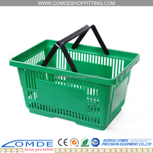 High Quality 25L Plastic Carry Shopping Basket For Wholesale