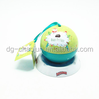 Superior quality fascinating peculiar ball shape tin box recycled golf ball gift box