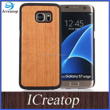 wholesale price phone case for samsung galaxy s7 s7 edge, wooden phone case with pc for samsung s7