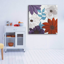 House decoration asia style interior wall flower canvas painting