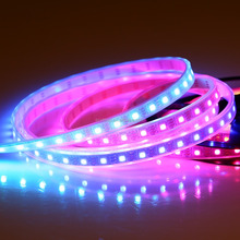 16.4ft SK6812 individually addressable led light strip DC5V 300LEDs smart RGB pixel lighting