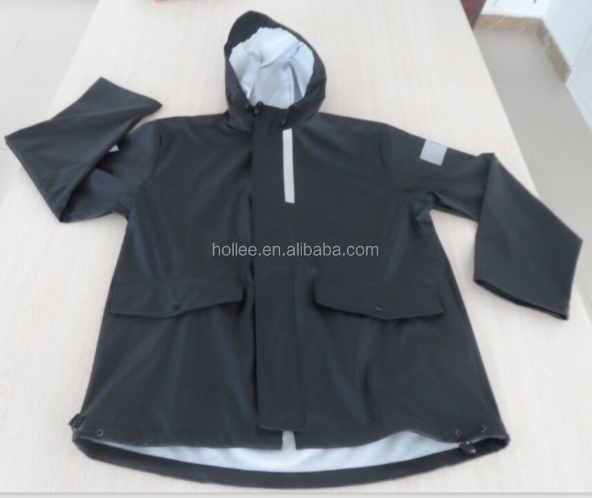 Industrial High Quality PU Rain Jacket and Pant Rainsuit
