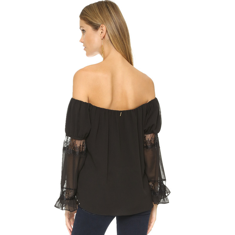 Off Shoulder Black Women Casual Blouse Design Buy Blouse Women Blouse Women Women Casual