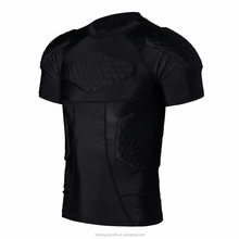 Wholesale Honeycomb Compression Protective American Style Pads Rugby Jersey