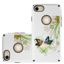 Butterfly Image PC+TPU New Design Phone Case for Apple Iphone 7