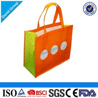 Promotional Customized Logo Printing Full Color Printed Laminated Non Woven Shopping Bag With Zipper