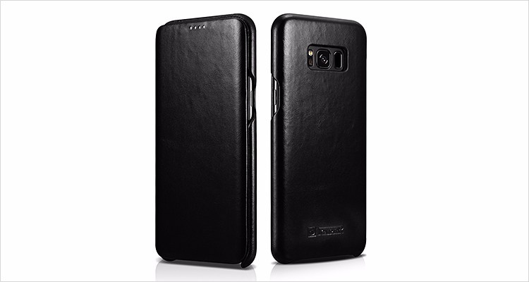 Best Selling Genuine Leather Folio Phone Case for Samsung S8