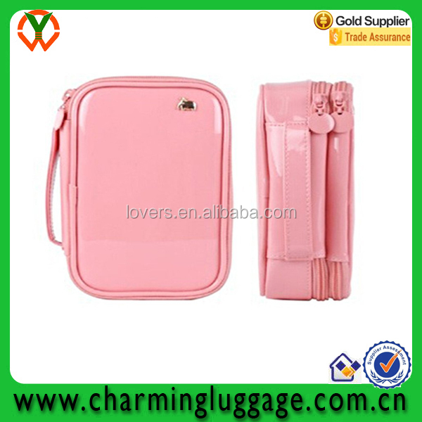 Best price high quality leather beauty cosmetic bag travel
