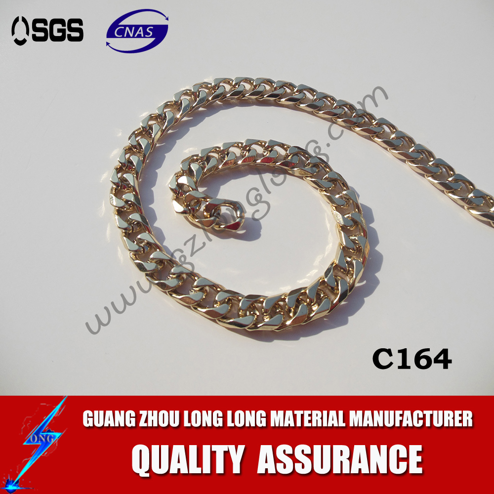 gold large long square link chain manufacturers