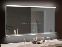 2015 MSL New Design Customized Bathroom LED One Way Mirror Glass, Fancy Frosted Decorative Glass Mirror Use in Hotel