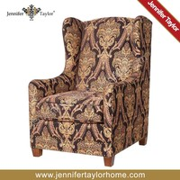 high end classic fabric covered armchair