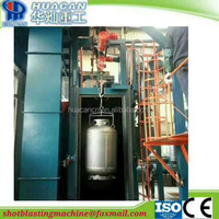 LPG cylinder shot blasting machine