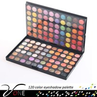 120 color natural decorative eyeshadow palette,metal color eye shadow