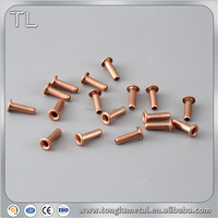 Custom cheap Brass Rivets Eyelets Shoes Copper Tubular Eyelet Rivets