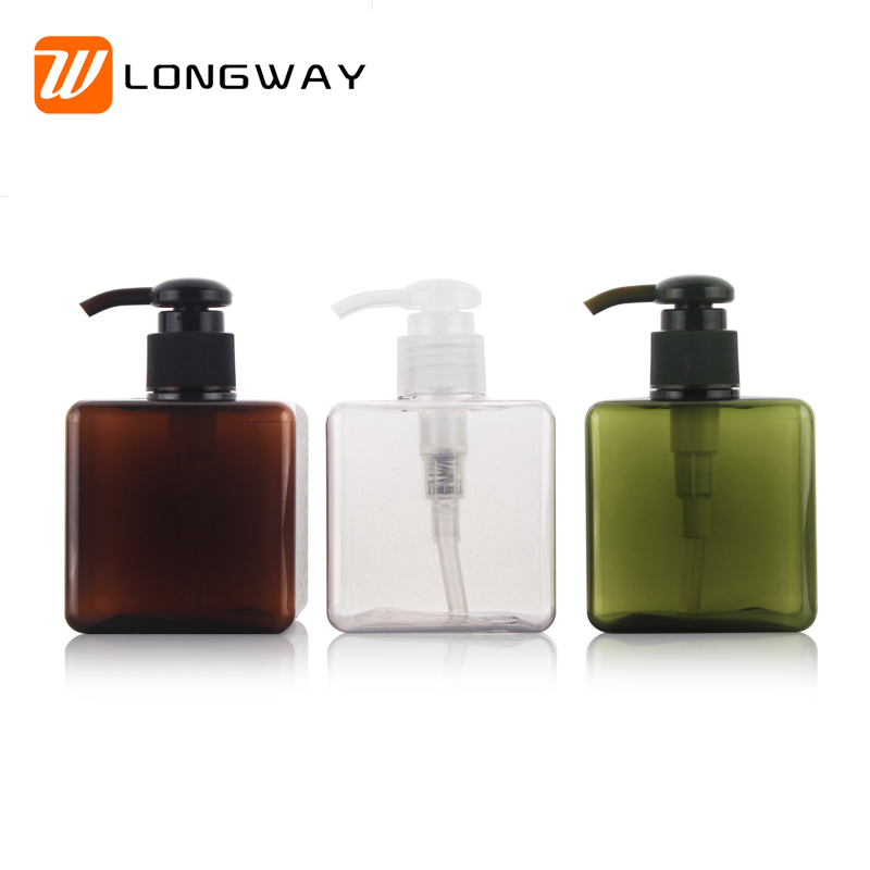 250ml Plastic Colorful Foam Pump Square Bottle for Skin Care Cosmetic Cleaning Makeup Packaging