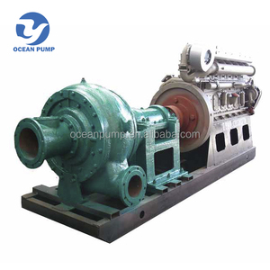 sand mud suction pump with diesel engine for river used