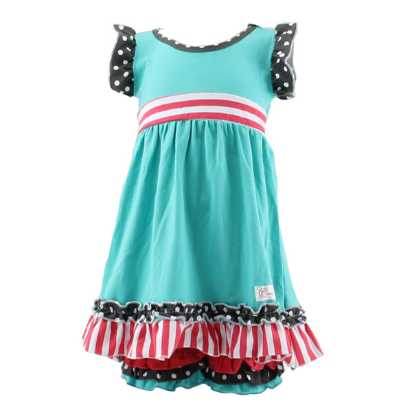 Summer wholesale New Style baby set dress OEM Service adorable cheap fashion aqua Kids Clothing Wholesale