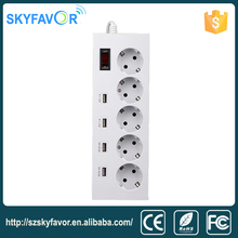 Multi Function Electric power extension Socket with USB / smart multi socket extension cord With Switch EU Socket