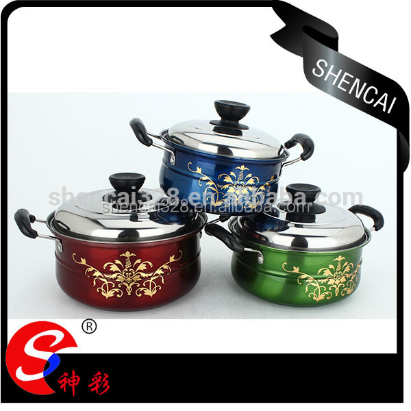 hot sale enamel stainless steel cookware pot set/ soup pot stock pot for thailand Africa