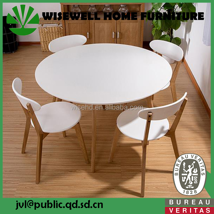 W-DF-0653 wooden home furniture dining table and chair