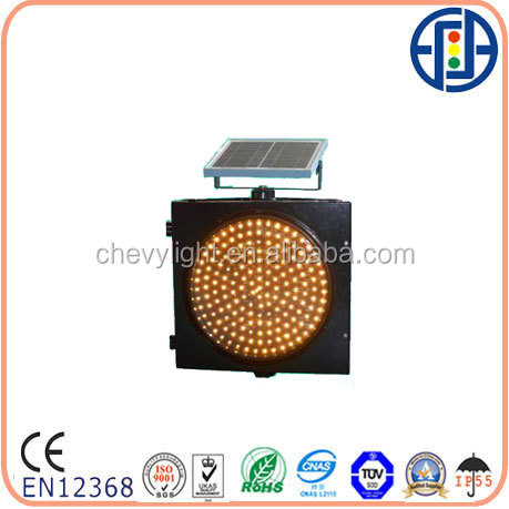 400mm Solar Yellow Flashing Light