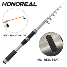 2.7m 6 Section Fuji Guide And Reel Seat Solid Telescopic Fishing Rod