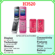 "cheapest 2.4"" screen most selling products mobile phone dual sim quad band H3520"