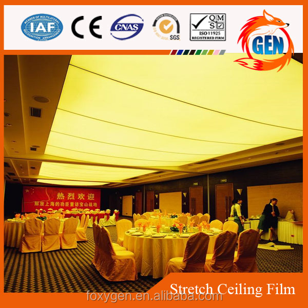 qualified high quality plastic ceiling tiles decorative pvc translucency insulated ceiling film