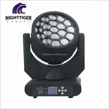 Factory price big bee eye clay paky k10 19x12w led zoom wash spot beam moving head stage lighting