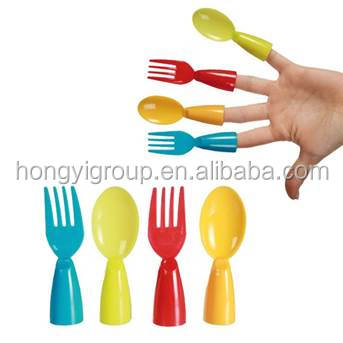 factory wholesales fingers spoon and fork set