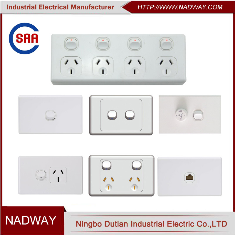 ALL kind of SAA standard australian standard electrical switches
