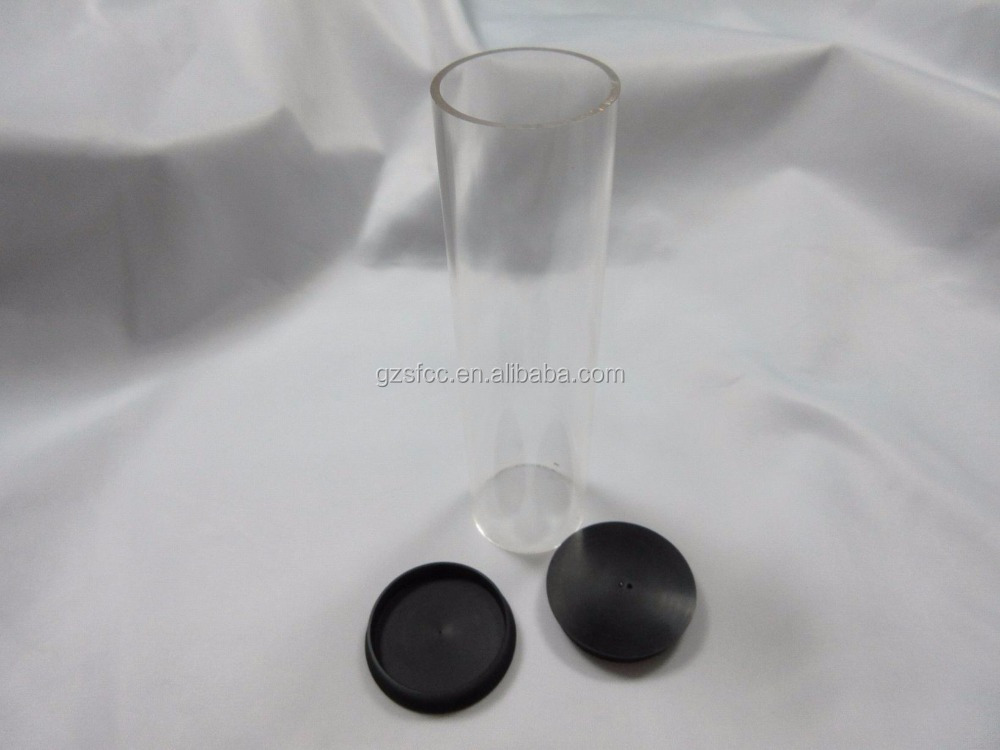 Transparent Acrylic Tube For Storage With Cover In Guangzhou Factory