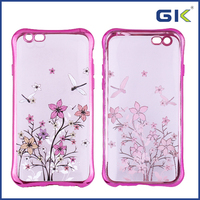 [GGIT] Hot Sell Electroplate Colorful Pattern TPU Phone Case For IPhone 6 Cover