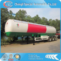 ASME 3 axle 12 wheels propane 60000Liter lpg truck trailer