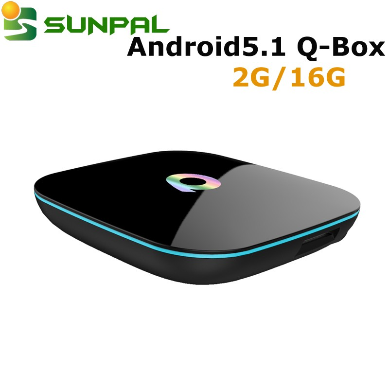 2016 New arrival Q-Box T95 Amlogic S905 Android5.1 tv box 2g/16g H.265 4K16.0 Quad Core Android 5.1 qbox google box