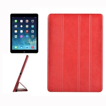 Big stock portable Crazy Horse Texture Horizontal Flip Leather notebook Case For iPad Air / iPad 5 with 4-folding Holder