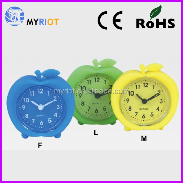 2.5 inch 6.5cm promotion apple shape table clock