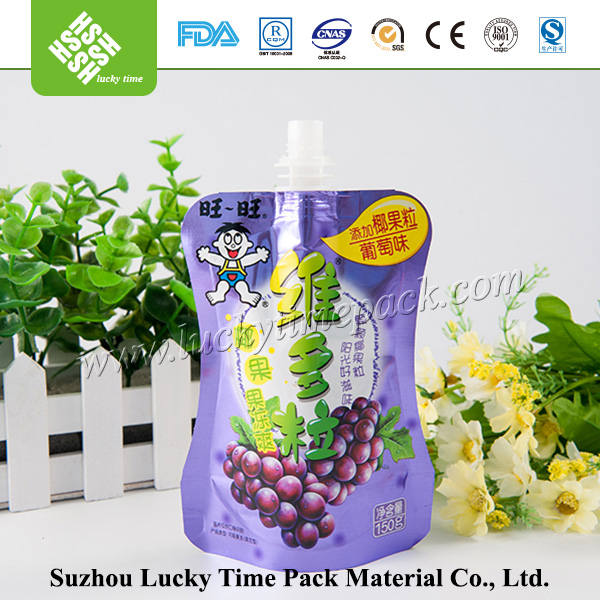 Laminated plastic spout bag with FDA standard