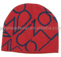 custom unique red winter hats with embroidered logo