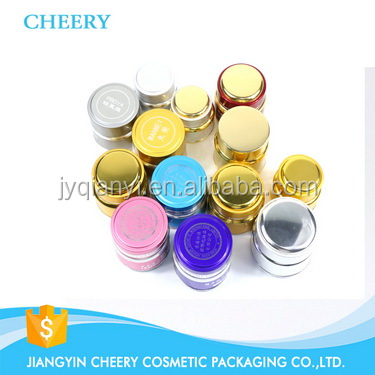 Aluminum Glass Cream Jars cosmetic packaging containers
