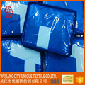 70*140cm blue custom microfiber beach towel with bag package