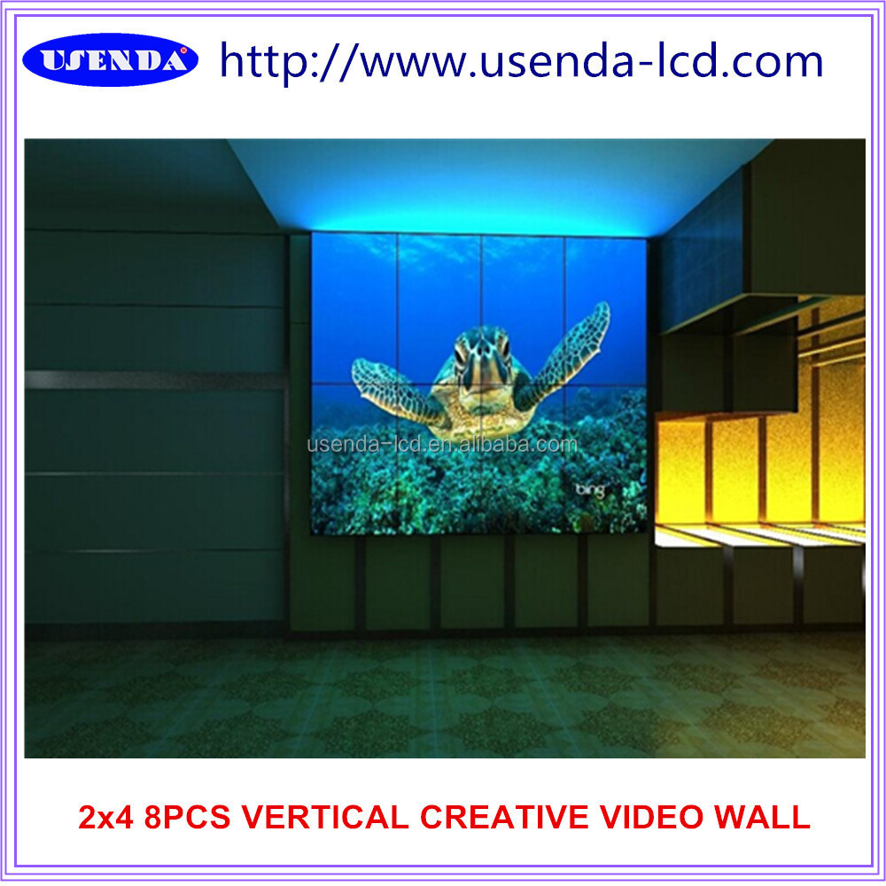 "47""55""Beautiful FULL hd vertical Irregular various creative bar screen seamless Led video wall"