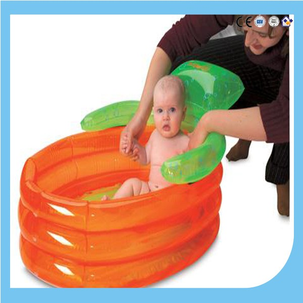 PVC EN71 and EU REACH standard inflatable baby bathtub/kids bathtub/