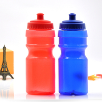 Fashionable Plastic Sport Water Bottle With Sipper Cap,Easy To Hold,Optional Colors,600ml