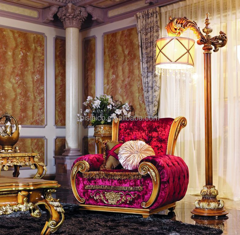 Luxury victorian style living room pink fabric sofa for Queen victoria style furniture