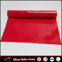 Silicone rubber sheet used for hot stamping