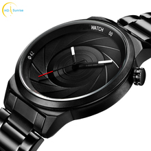 Photographer Series Unique Camera Style stainless Strap Men Women Casual Fashion Sport Quartz Modern Wrist Gift Watches