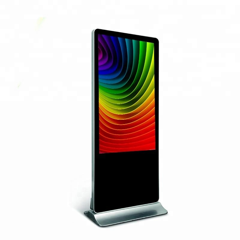 55inch 4K original tv panel full hd ad display floor standing kiosk with digital signage stand