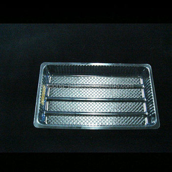 Clear BOPS food biscuit packaging tray