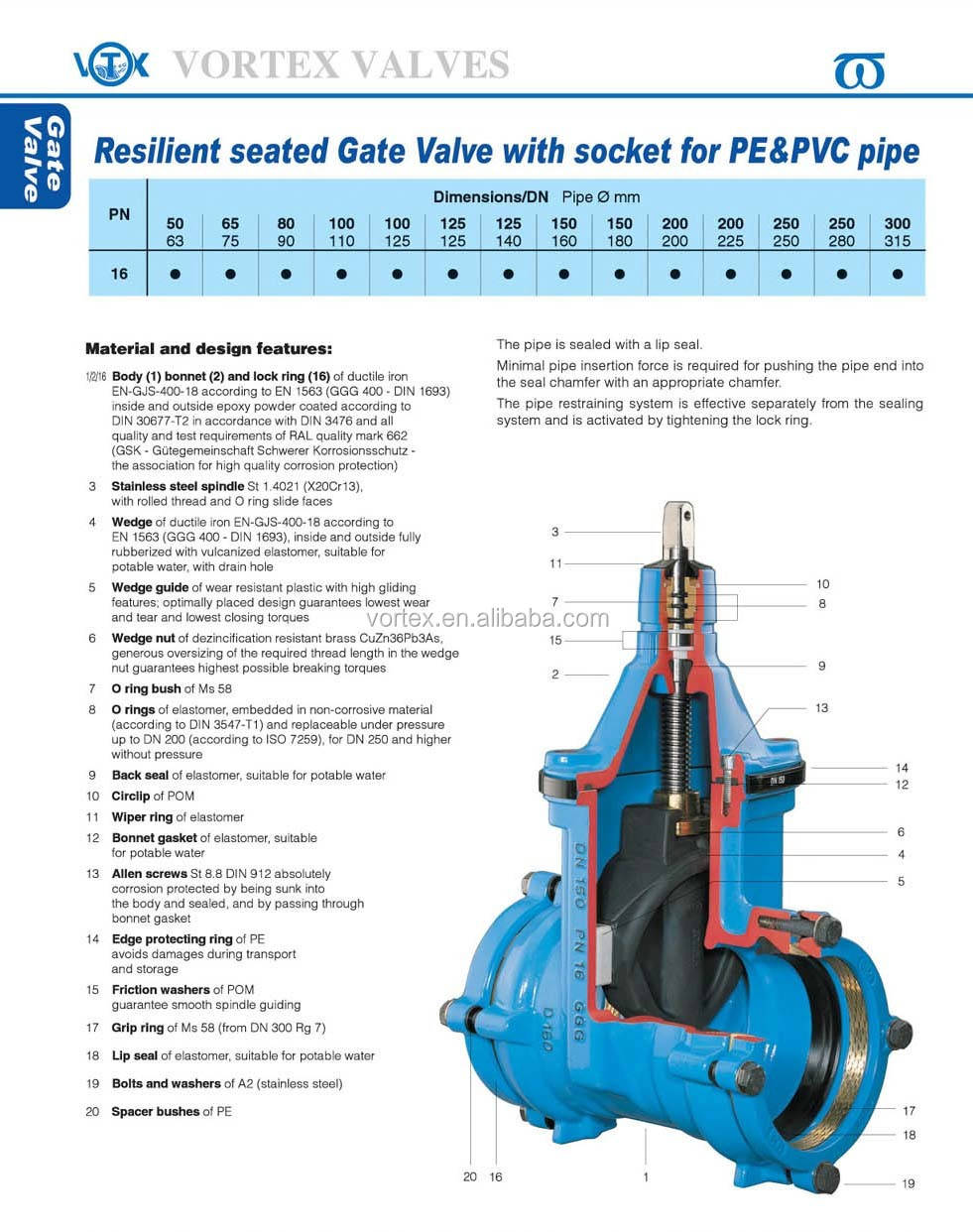 Bs5163 5150 iso2531 resilient seated gate valve view gate for 5150 water pipes